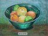 citrus in green bowl